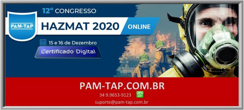 12° Congresso HAZMAT 2020 Online PAM-TAP Certificado